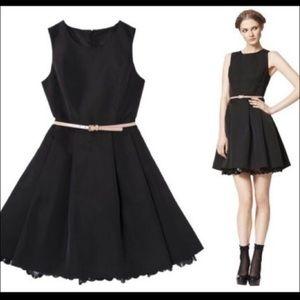 New Jason Wu black fit & flare dress large
